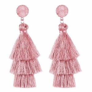 Druzy tassel earrings